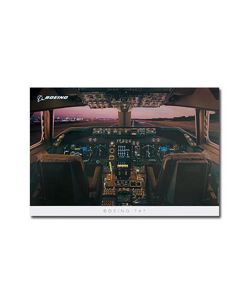 Poster Tableau de bord Boeing 747