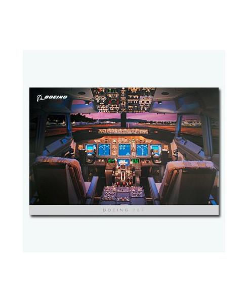 Poster Tableau de bord Boeing 737