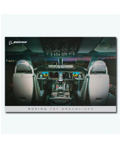 Poster Tableau de bord Boeing 787