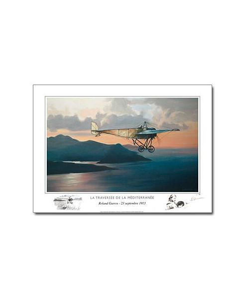 Poster Roland GARROS - La traversée de la Méditerranée