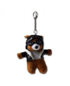 Porte-clés ourson aviateur