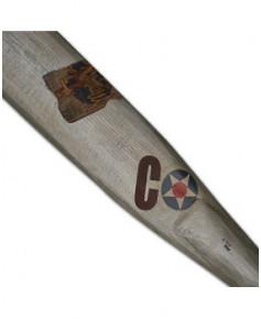 Hélice de décoration argentée en bois 2 m