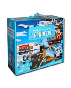 Voyage, découvre, explore l'aéroport - Puzzle de 205 pièces + livre