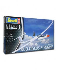 Coffret maquette à monter Planeur Duo Discus - 1/32e