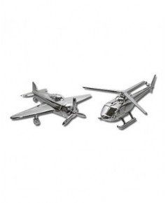 Salière et poivrière - forme avion et hélicoptère