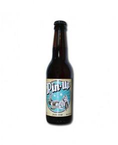 Lot de 6 bouteilles de bière blanche Pin-Up avec sa caissette en bois