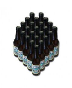 Lot de 24 bouteilles de bière blanche Pin-Up