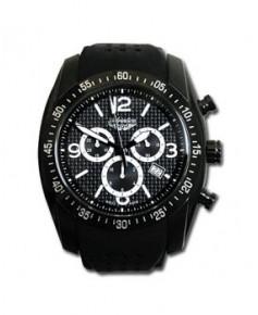 Montre Adriatica 1181.B254CH - boîtier noir, cadran noir et bracelet noir en caoutchouc