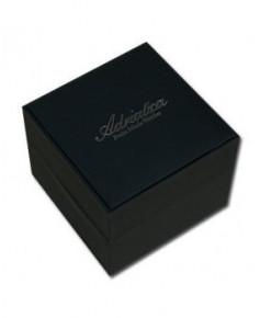 Montre Adriatica 1088.B224CH - boîtier noir, cadran noir et bracelet noir en cuir