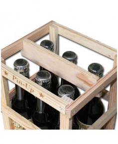 Lot de 6 bouteilles de cola Pin-Up avec sa caissette en bois