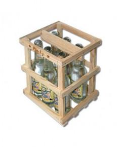 Lot de 6 bouteilles de limonade Pin-Up avec sa caissette en bois