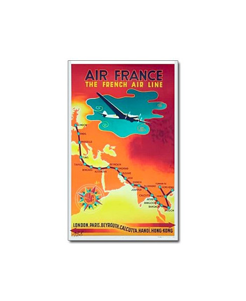 Affiche Air France, The French Air Line (petit modèle)