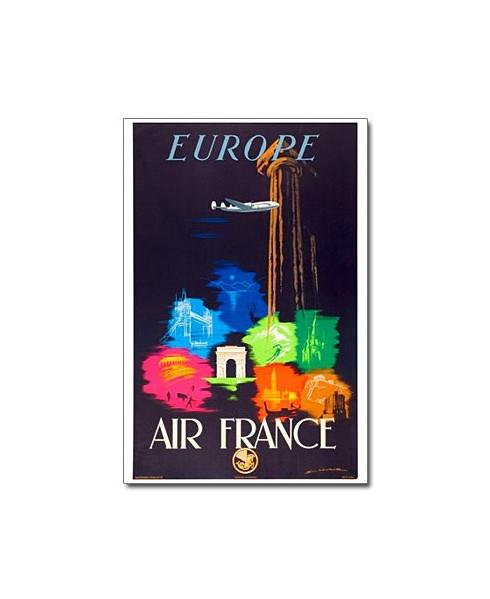 Affiche Air France, Europe (petit modèle)