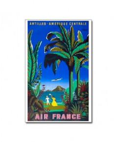 Affiche Air France, Antilles - Amérique centrale (petit modèle)