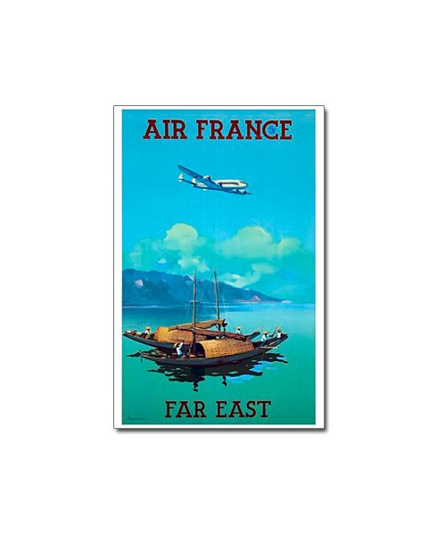 Affiche Air France, Far East (petit modèle)