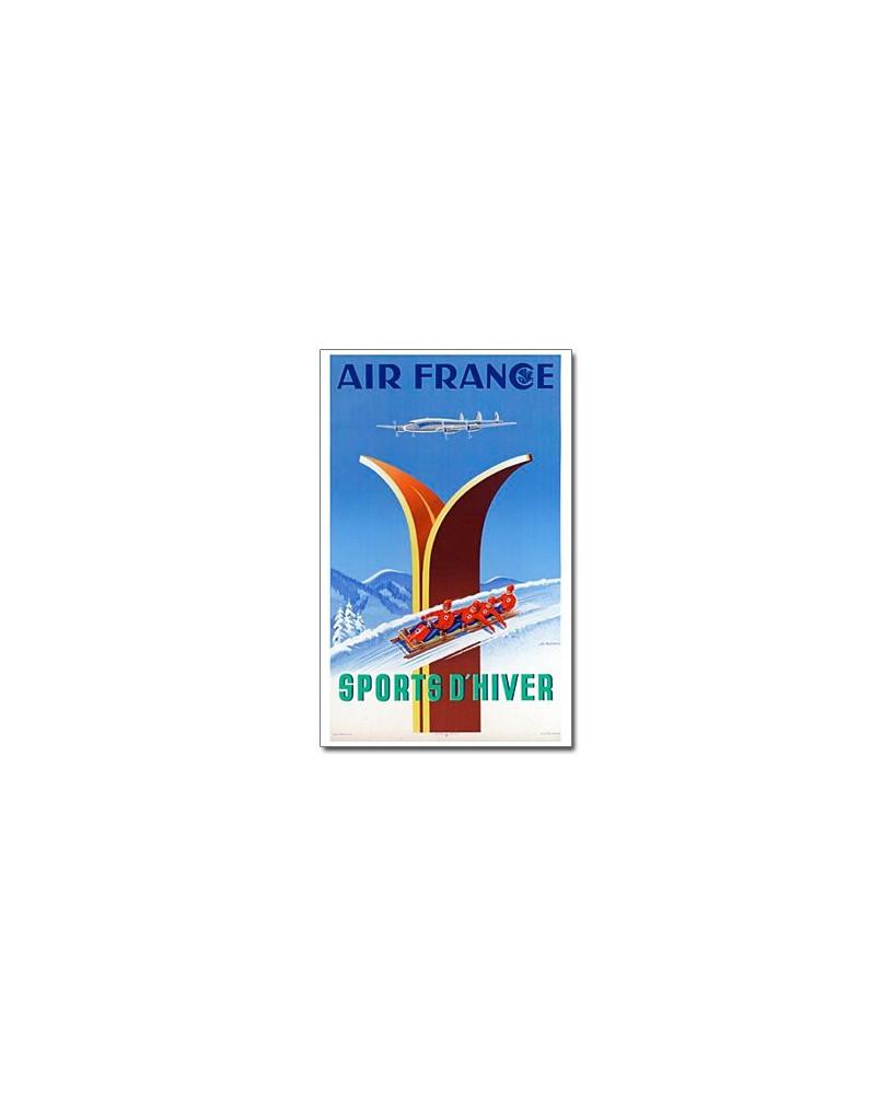 Affiche Air France, Sports d'hiver (petit modèle)