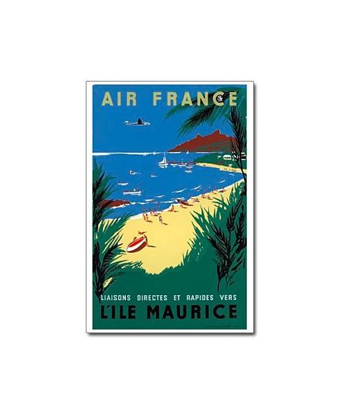 Affiche Air France, L'île Maurice (petit modèle)