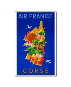 Affiche Air France, Corse (petit modèle)