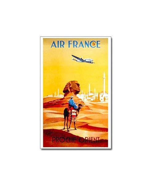Affiche Air France, Proche Orient Désert (petit modèle)