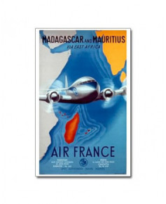 Affiche Air France, Madagascar and Mauritius (petit modèle)