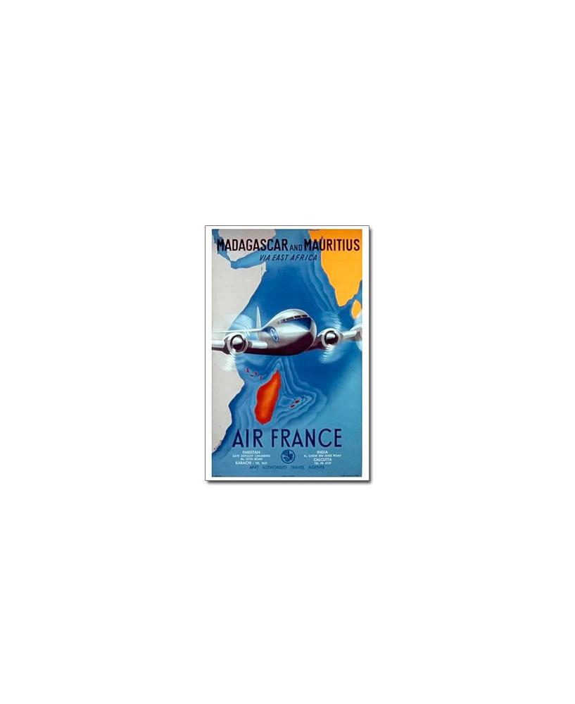 Affiche Air France, Madagascar and Mauritius (petit modèle)