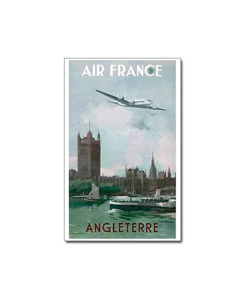 Affiche Air France, Angleterre (petit modèle)