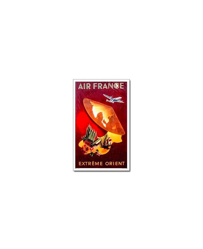 Affiche Air France, Extrême Orient (petit modèle)