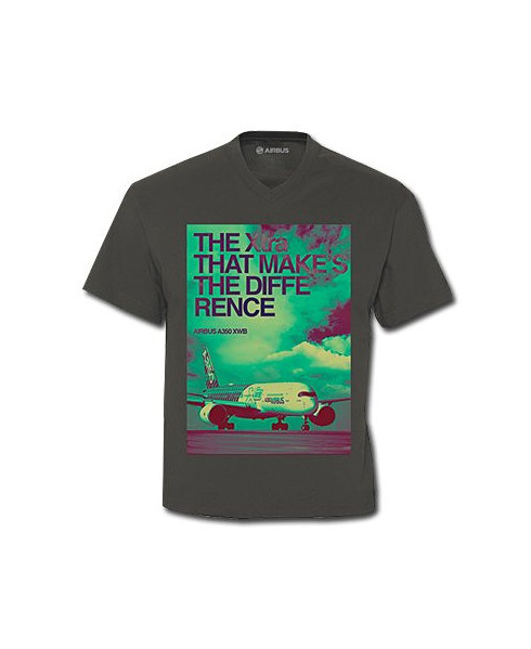 """Tee-shirt gris A350 """"The Xtra makes the difference"""" - Taille S"""