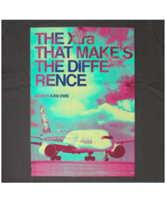 """Tee-shirt gris A350 """"The Xtra makes the difference"""" - Taille M"""